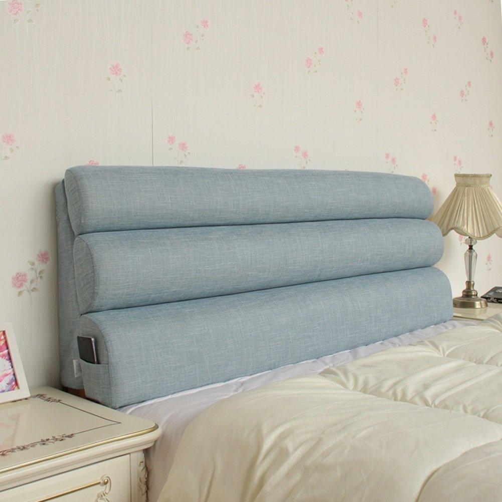 QIANGDA クッション ベッドの背もたれフルカバー スポンジを充填する ソファソフト枕 疲労を緩和し、 7色 6サイズ 利用可能 ( 色 : ライトブルー , サイズ さいず : 203 x 55cm ) B07B9G8MMS 203 x 55cm ライトブルー ライトブルー 203 x 55cm