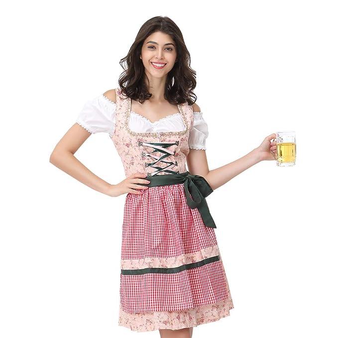 Amazon.com: Disfraz de tirolesa para mujer, 3 piezas: Clothing