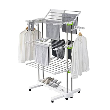 Amazon.com: Newerlives BR505 3 tier Collapsible Clothes Drying