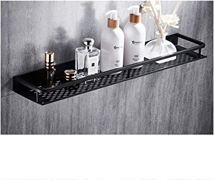60cm Kitchen Storage Wall Shelf Alu Bathroom Shower Storage Rack Shampoo Holder