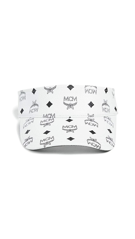 MCM Mens Logo Visetos Visor White One Size MCM-Men/'s