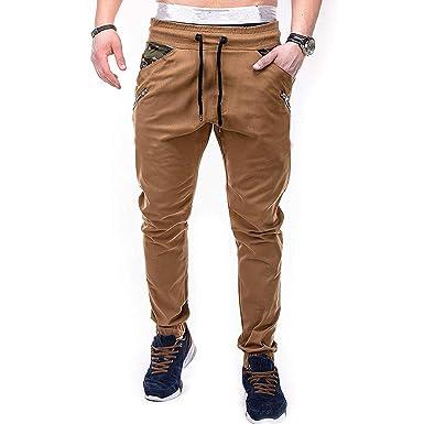JiaMeng Pantalones de hombre Pantalón Casual para Hombre Correas ...