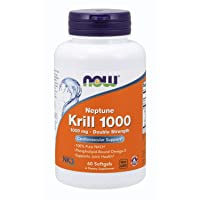 NOW Supplements, Neptune Krill, Double Strength 1000 mg, Phospholipid-Bound Omega...