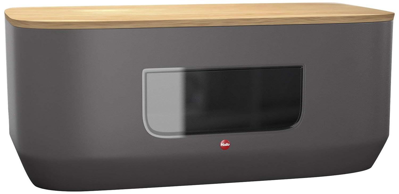stahlblechbrotkasten mit sichtfenster und schneidebrettdeckel