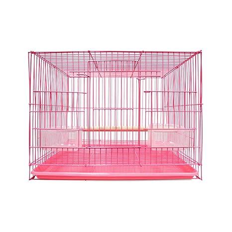 Jaula de Transporte para pájaros Cuadrada de Metal Simple con asa ...