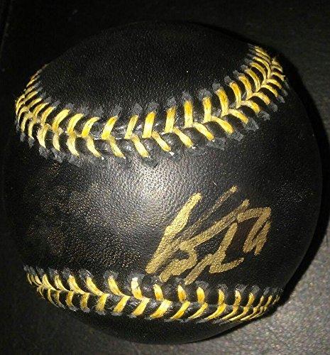 - Curtis Granderson Autographed Ball - Blk gold W coa - Autographed Baseballs