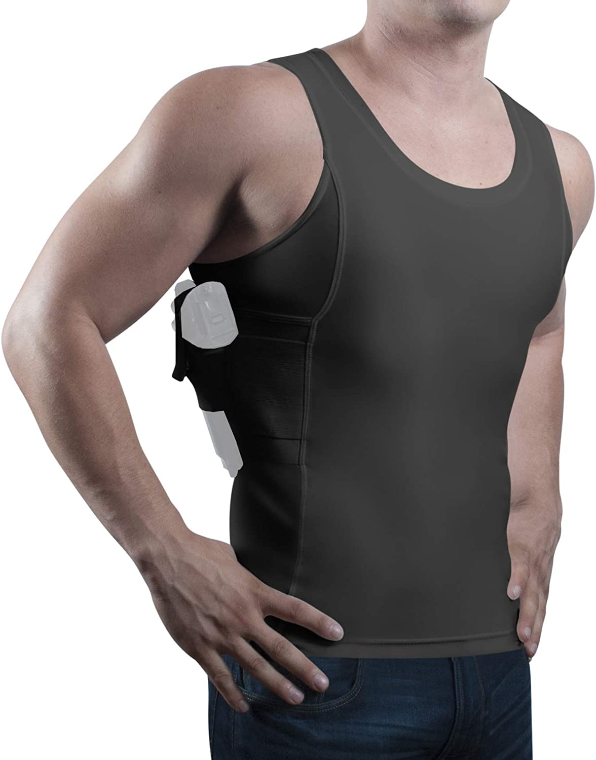 ConcealmentClothes Men's Compression Undercover- Concealed Carry Holster Tank Top Shirt