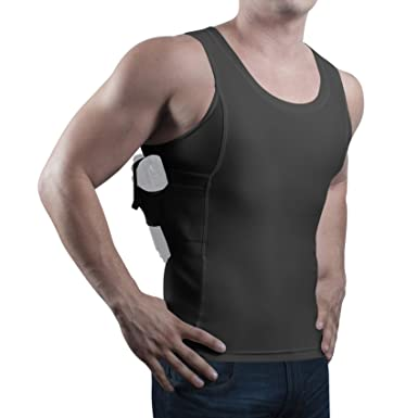 7b1304c01896c4 ConcealmentClothes Men s Compression Undercover- Concealed Carry Holster  Tank Top Shirt