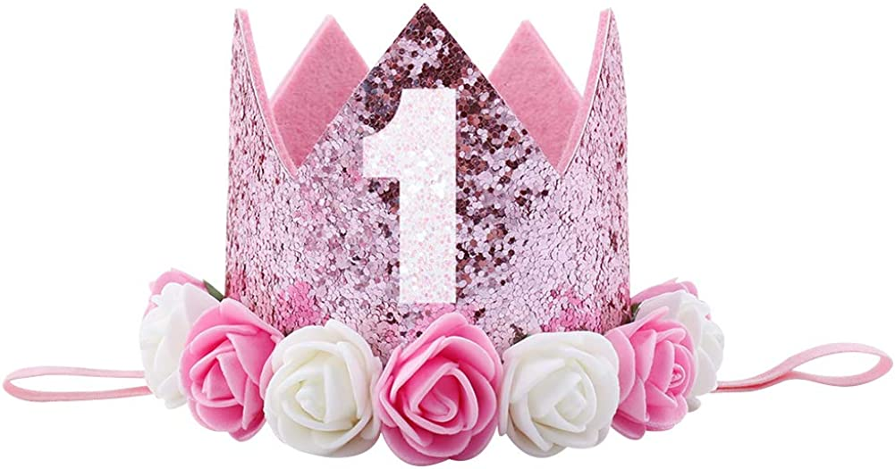 My First Birthday Party Baby Girl Lace Flutter Sleeve Romper Tutu Dress+Crown Headband+Shoes 3PCS Set Cake Smash Outfit