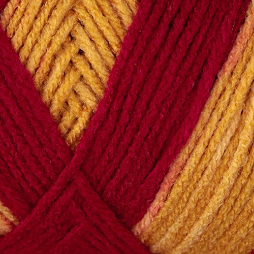 Red Heart Team Spirit Yarn (964) Burgundy/Gold