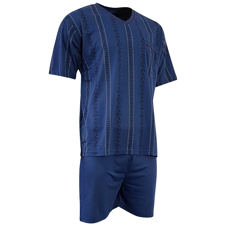 finest selection 1d5eb e2b7e Lavazio Herren Schlafanzug kurz Shorty T-Shirt Bedruckt Hose ...