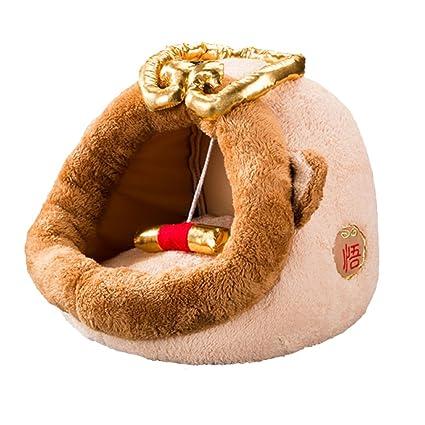 CDREAM Cama Para Gatos Casa Lavable Cueva Para Dormir Confortable Cama Para Mascotas Puppy Kitten Parte