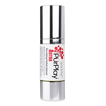 PurPlay from Keys Astra Stimulating Euphoric Natural Herbal Spray Personal  Lubricant with Organic Coconut