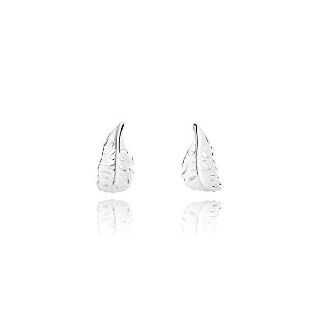 Joma Jewellery - Everly Feather Earrings - Silver Plated xAtyj