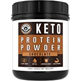 Keto Protein Powder (Chocolate)   Low Carb, High Fat Ketogenic Protein Powder - with MCT Powder & Grass-Fed Collagen   Keto Shake - 25 Servings by Left Coast Performance