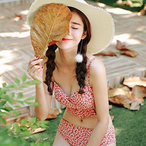 YUPE Hot spring Badeanzug Bikini Dreieck vier Stücke setzt Hot Springs sunscreen hohlen Badeanzug female
