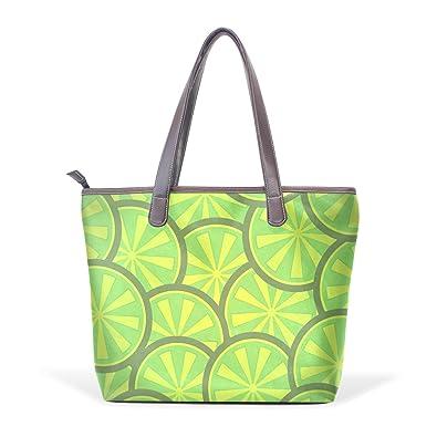 Amazon.com: imobaby Mujer Hobo bolsa grande verde limón ...