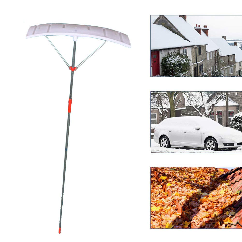 Cacoffay Telescoping Aluminum Snow Roof Rake, Scalable from 6.6ft-13.1ft Scratch-Free Great to Remove Snow/Leaves/Debris, Roof Snow Removal Tool by Cacoffay