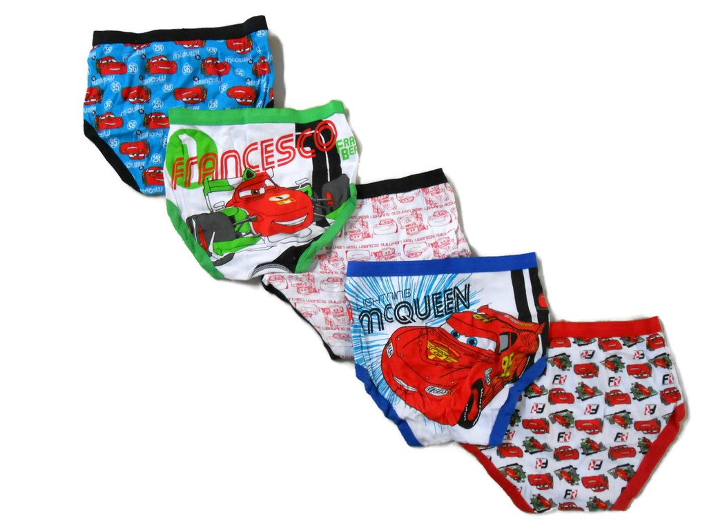 Disney Little Boys' Cars 5-Pack Brief, Colors and Prints may Vary Handcraft BUP6513