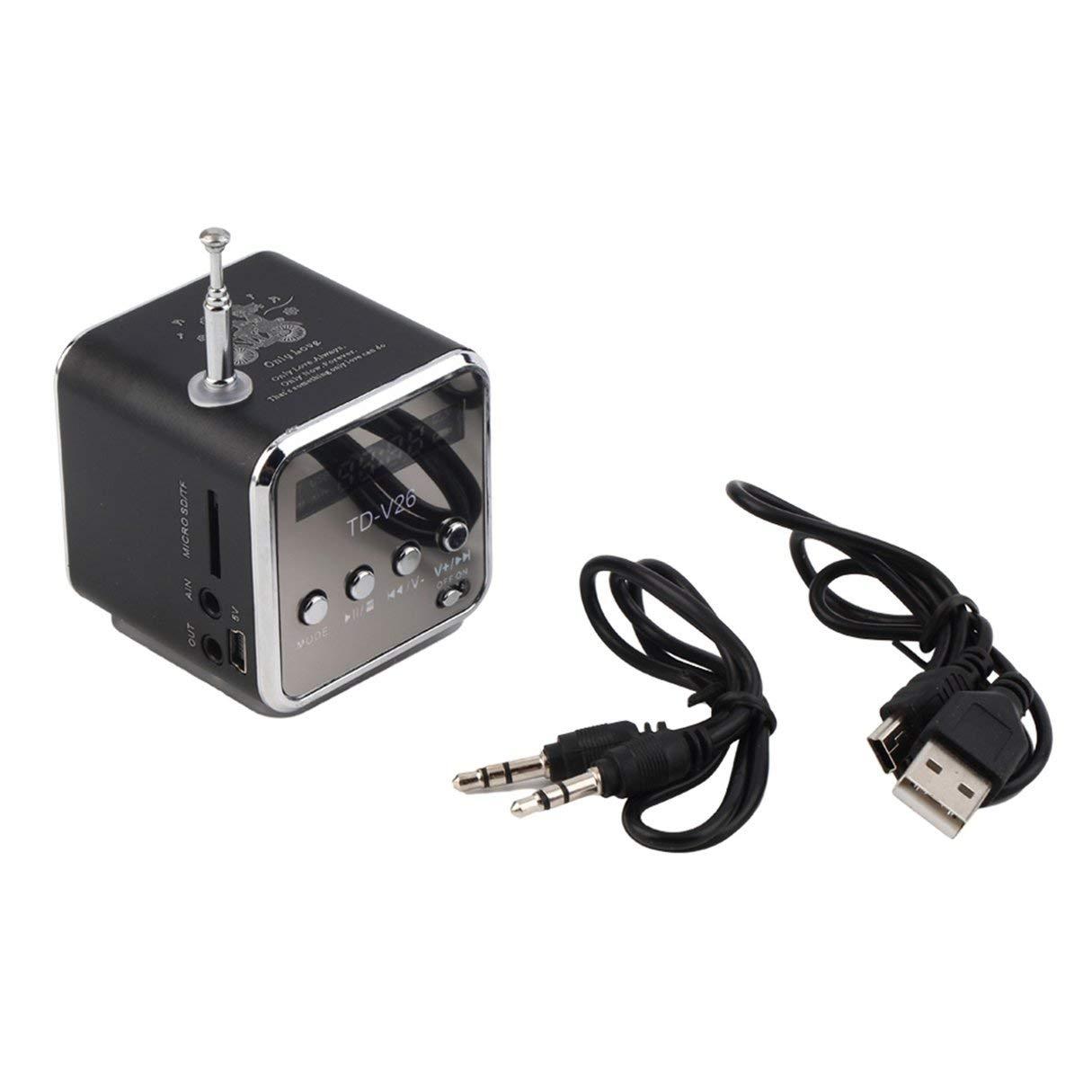 Minilautsprecher, Minilautsprecher, beweglicher Mikro-TF USB-Minilautsprecher Musik-Spieler Beweglicher FM-Radio-Stereotelefon-Laptop MP3-MP4 Spieler-Minilautsprecher Wafalano