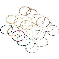 KKmoon 3 conjuntos de cordas para violão popular acústica Cordas de aço inoxidável Núcleo de fio de cobre em liga de…