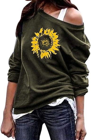 UK Womens Summer Sunflower T Shirt Ladies Short Sleeve Holiday Causal Loose Tops