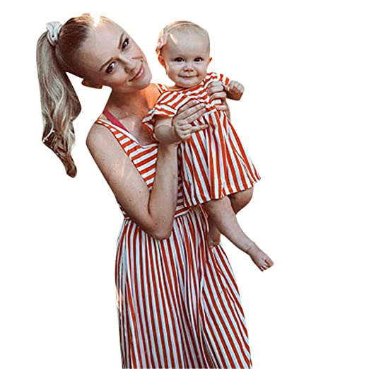 203f8e29dd Amazon.com: Baby Girl Stripe Dress, Independence Day Summer Short Sleeve  4th of July Casual Dresses for 3-8 Years: Home & Kitchen