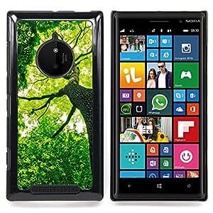 Ihec-Tech Verde Forrest Árbol;/Funda Case back Cover guard/for Nokia Lumia 830