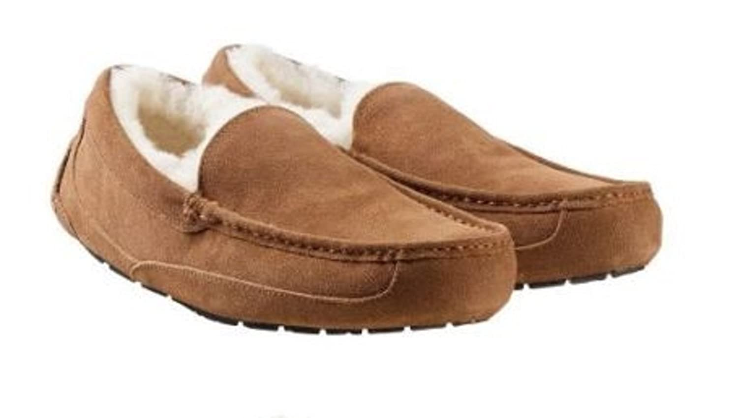 1b4cf682090 outlet Kirkland Signature mens Shearling moccasins Slippers ...