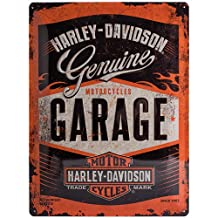 Harley Davidson Garage large embossed steel sign (na 4030)