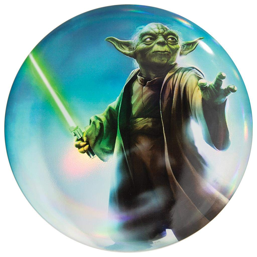 Discraft Star Wars Full Foil Plain Prism Yoda Supercolor ESP Buzzz Midrange Golf Disc - 177-178g