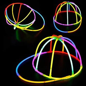 Amazon Com Bromrefulgenc Hollow Fluorescent Hat Diy Glow