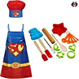 The Ladybirds Company Great British Bake Set Childrens Baking Set Girls or Boys 14 Piece Baking Kit Childrens Cooking Set with Super Chef Childrens Apron & Chefs Hat Outfit