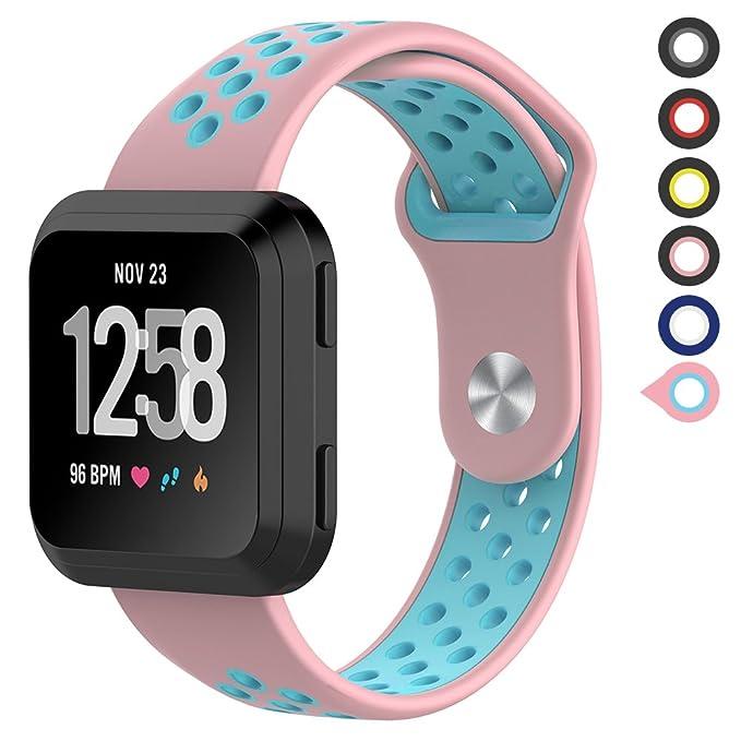 Meifox Fitbit Versa - Bandas de Repuesto para Mujer y Hombre ...