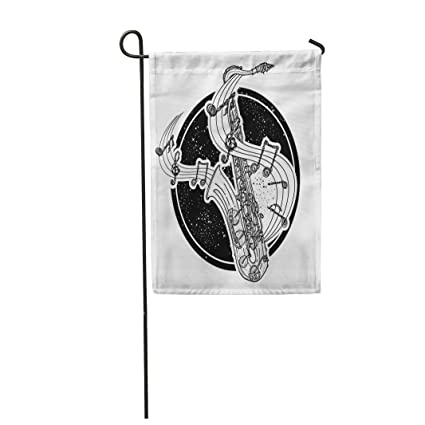 "Semtomn 28""x 40"" Garden Flag Art Jazz Tattoo and T-Shirt Design"