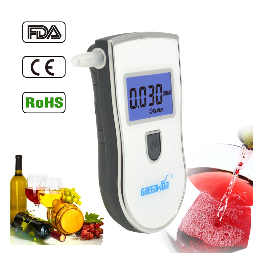GREENWON 10 / Lot There Are Gift Breath Alcohol Detector Breath Alcohol Detector Prefessional New Lcd Screen Police Digital Breath Alcohol Tester Breathalyzer