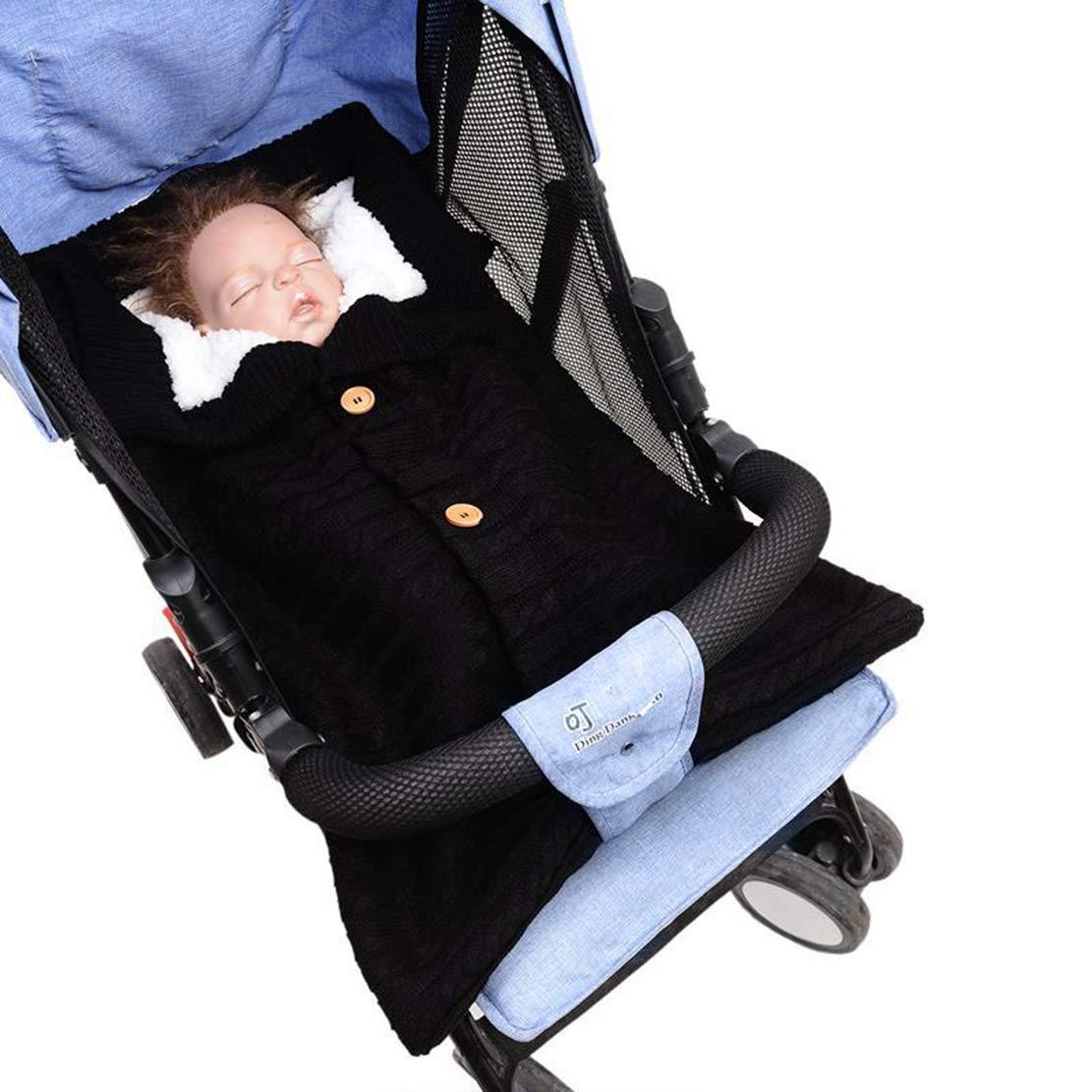 Mantas Envolventes Saco de Dormir de Punto Felpa Unisex Swaddle Blanket Beb/é Reci/én Nacido de 0-6 Meses para Cochecito Invierno Caliente C/ómodo