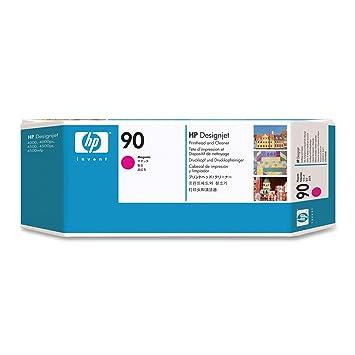 Amazon.com: HP 90 Magenta y limpiador Designjet Original Ink ...
