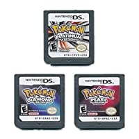 Platinum + Pearl + Diamond Version Game Card for NDS 3DS DSI DS (3Pcs)