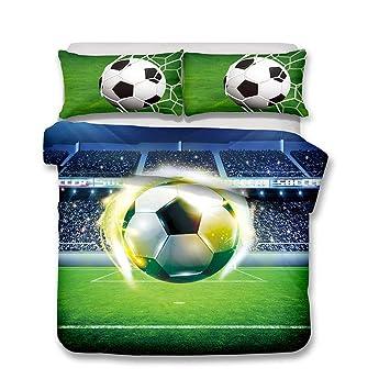 Andrui Bettwasche Bettbezug 3d Fussball Mehrfarbig Bettbezug Und