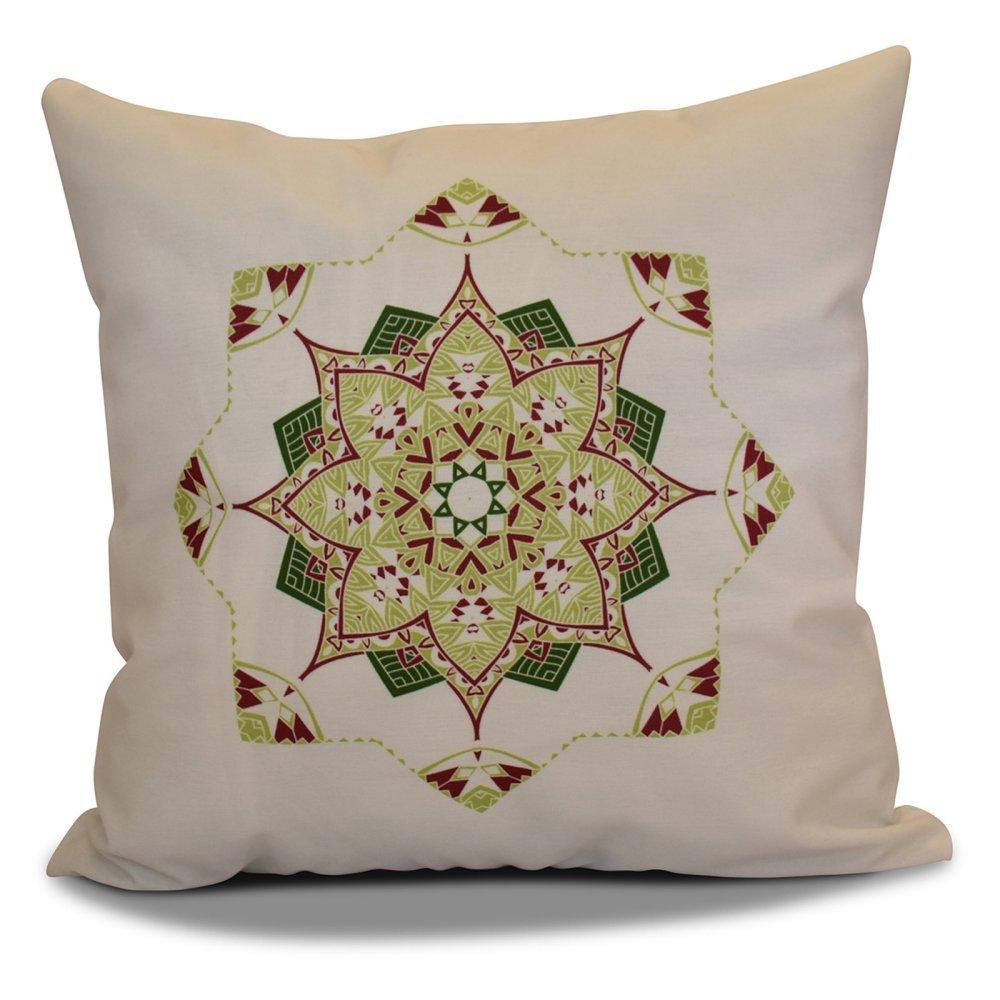 Snowflake Star Pillow E by design PHGN699IV3PP2-16 16 x 16-inch Purple 16x16,