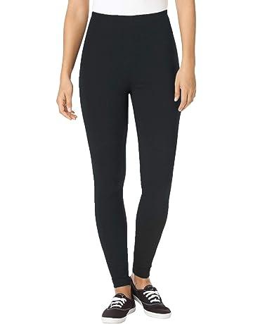 3788ba8b8f6cd4 Woman Within Women's Plus Size Petite Stretch Cotton Legging