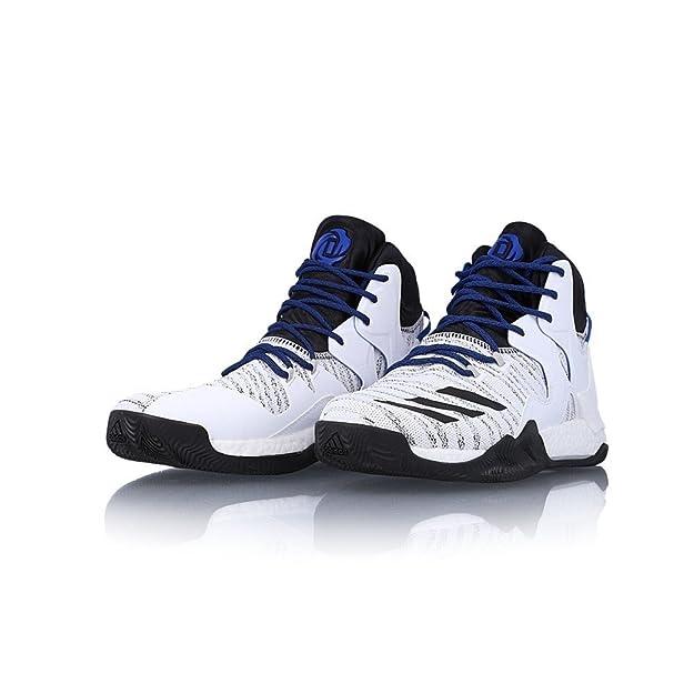 adidas Performance D Rose 7 Primeknit, Chaussures de Basketball Homme - Multicolore - Multicolore (Solred/Ftwwht/Icegrn), 41 1/3 EU