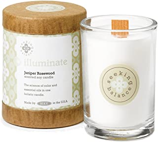 product image for Root Candles Seeking Balance Small Spa Candle, 6.5-Ounce, Illuminate: Juniper Rosewood