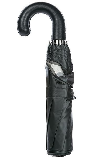 Burberry pequeño paraguas automático de hombre nuevo Strand negro