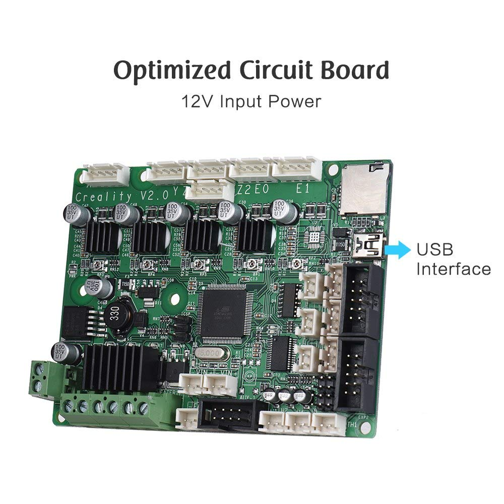 Amazon.com: 3D Printer - Motherboard Controller Board Mainboard for CR-10/ 10Mini CR-10S/ S4/ S5 3D Printer Self Assembly DIY Kit USB Port - (Size: for ...