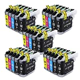 Wolfgray Compatible Ink Cartridge Brother LC203XL LC203 XL LC 203XL Replace for Brother MFC-J480DW MFC-J485DW MFC-J680DW MFC-J880DW MFC-J4620DW MFCJ5720DW 25Pack (10 Black,5 Cyan,5 Magenta,5 Yellow)