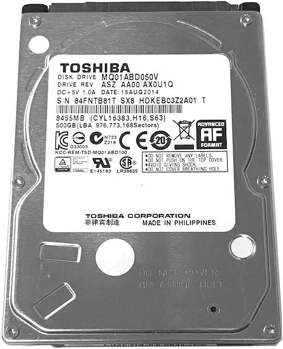 500GB Toshiba 2.5-inch SATA laptop hard drive (5400rpm