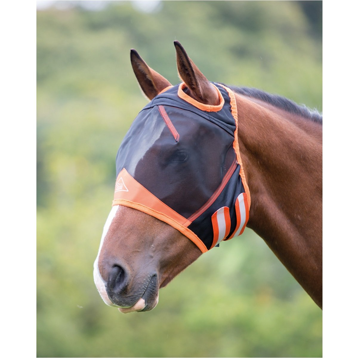 Shires Fine Mesh Fly Mask With Ear Hole - Black - Small Pony