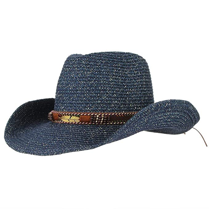 Unisex Vaquero De Paja Con Ala De Forma Sombrero Fashion De Vaquero Para  Mujer De Verano Para Hombre Sombrero De Paja Sombrero Para El Sol Sombrero  Para El ... 1b7c87e2113